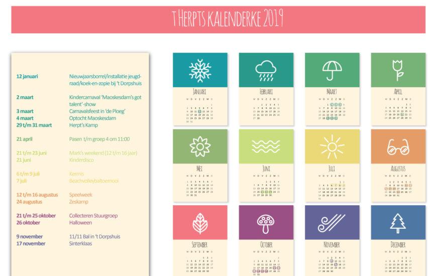 Herpts Kalenderke voor 2019